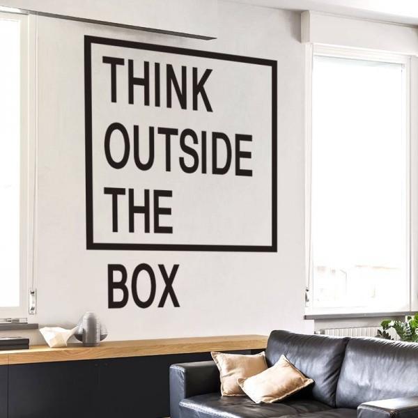 Creative Office Walls Business Office Thinkoutsidetheboxwallquotesdecalsofficewallartcreativesticker02 Creative Boost Thinkoutsidetheboxwallquotesdecalsofficewallartcreative